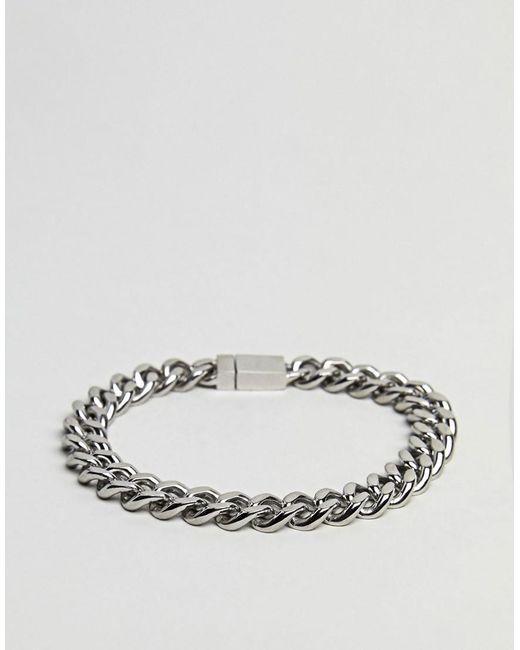 Vitaly   Metallic Kickback Bracelet In Antiqued Steel for Men   Lyst