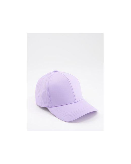 Лавандовая Бейсболка ASOS, цвет: Purple