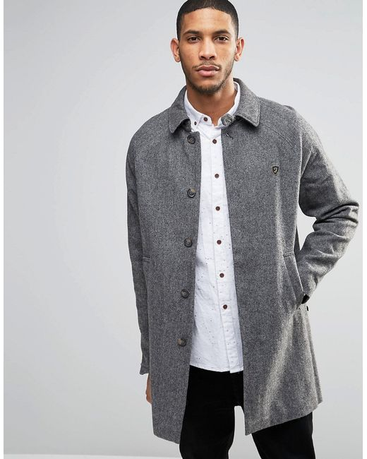 Farah Wool Mac in Gray for Men | Lyst