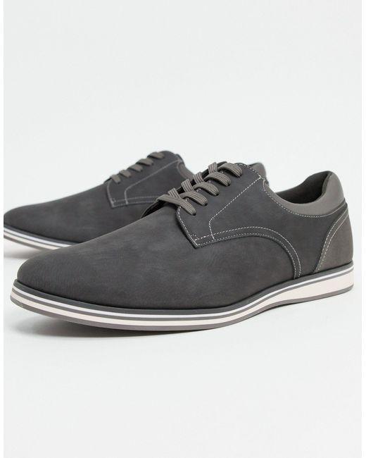 Серые Туфли Со Шнуровкой -серый ALDO для него, цвет: Gray