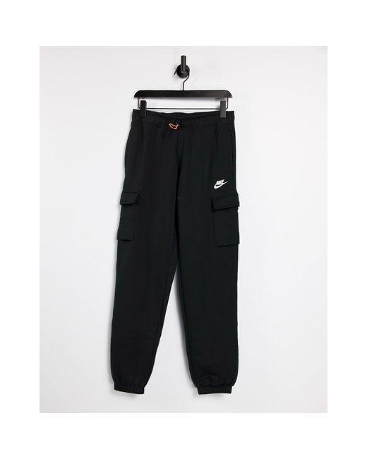 Pantaloni cargo ampi di Nike in Black