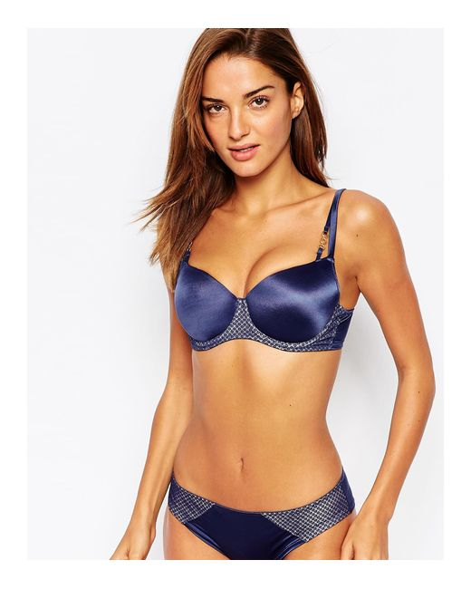 Ultimo Maddie Balcony Bra A-g In Blue - Save 28%