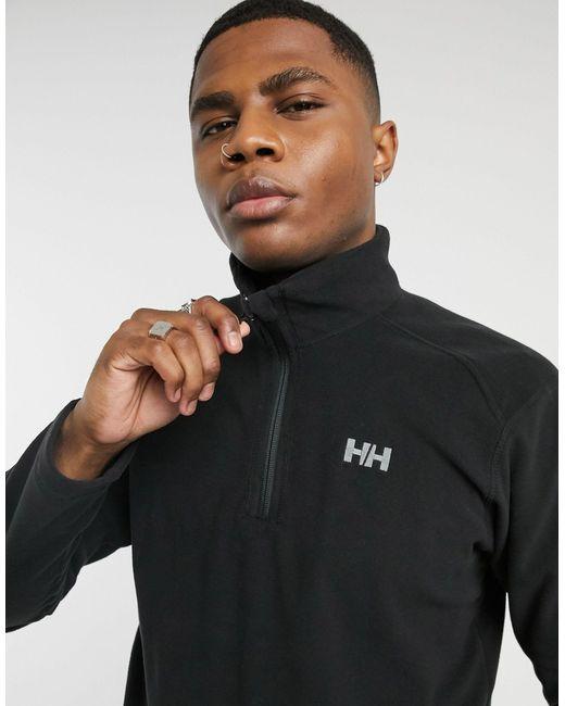 Helly Hansen Black Daybreaker 1/4 Zip Fleece for men