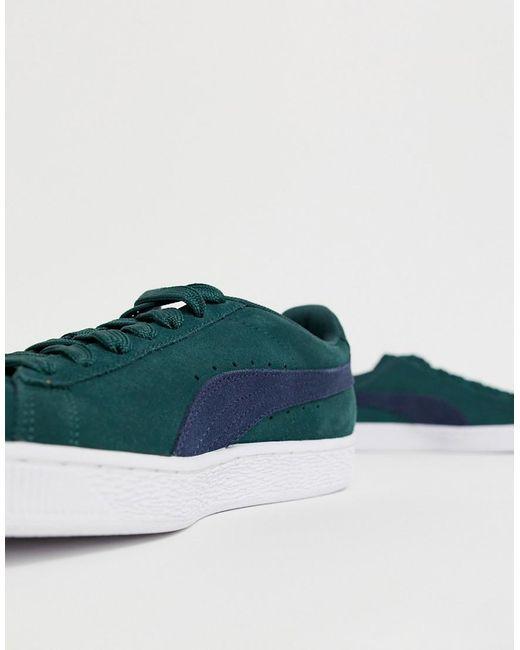best cheap c8b7c 8136e Men's Suede Classic Sneakers In Green