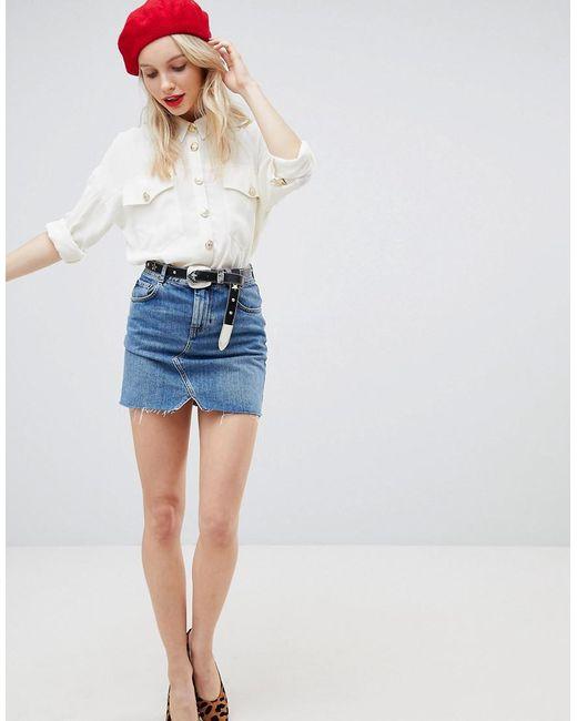 2018 Unisex For Sale DESIGN Oversized Shirt With Vintage Button Detail - Cream Asos Buy Cheap New Arrival 100% Authentic TAjzfs41