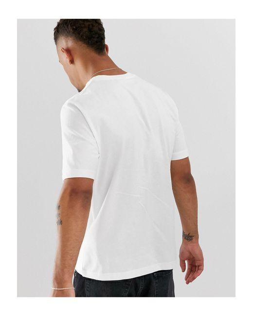 T-shirt bianca con stampa del simbolo della pace di Love Moschino in White da Uomo