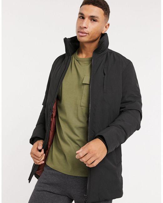 Черная Парка Со Складывающимся Капюшоном Premium-черный Jack & Jones для него, цвет: Black