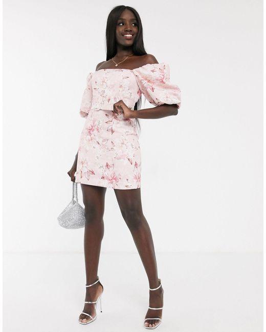 Розовое Платье Мини С Поясом -мульти Forever New, цвет: Pink