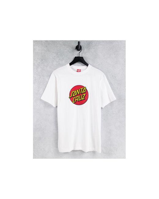 Santa Cruz White Classic Dot T-shirt for men