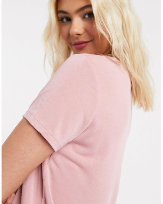 Розовая Фуболка Из Переработанного Полиэстера -розовый Monki, цвет: Pink