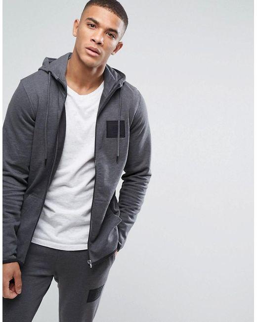 Jack & Jones | Gray Core Zip Through Hoodie With High Neck for Men | Lyst