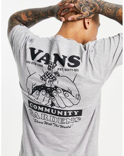 Vans Gray Grow Community Back Print T-shirt for men