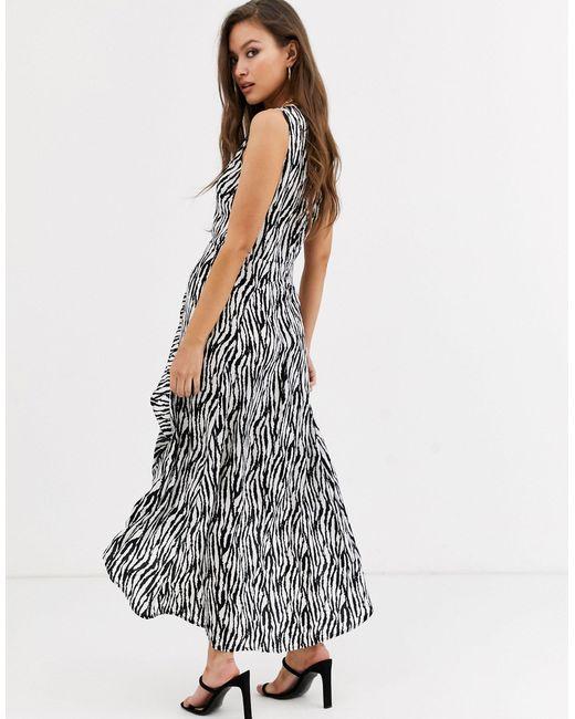 Платье Макси С Зебровым Принтом -кремовый AX Paris, цвет: Multicolor