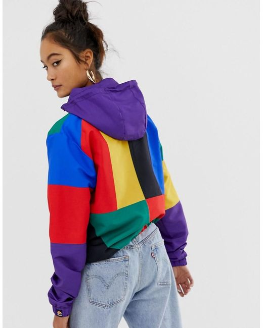 search for official save off many choices of Hooded Jacket With Chest Logo In Color Block Exclusive To Asos