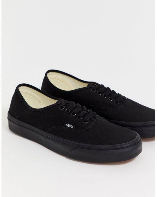 Черные Кеды Authentic Vee3bka-черный Vans для него, цвет: Black