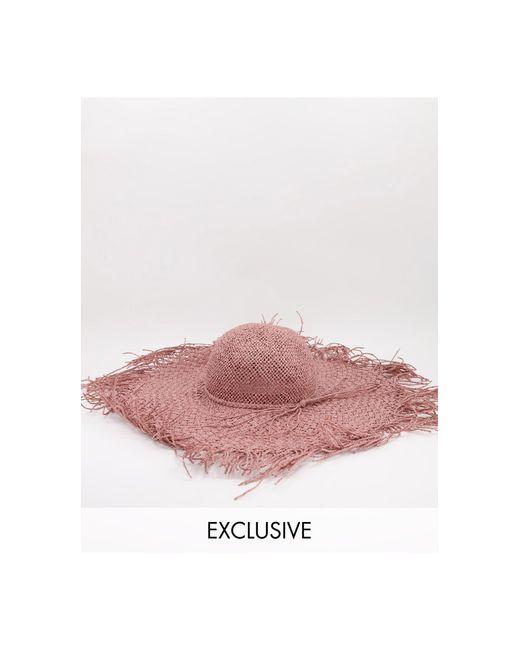 Соломенная Шляпа Розового Цвета С Необработанными Краями -розовый Цвет South Beach, цвет: Pink
