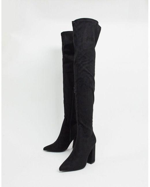 Черные Ботфорты На Высоком Каблуке -черный Truffle Collection, цвет: Black