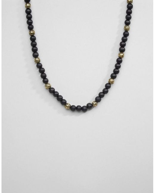 Icon Brand | Black Multi Beaded Necklace for Men | Lyst