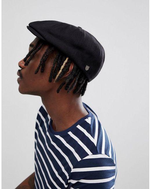 Lyst - Brixton Brood Flat Cap In Black in Black for Men f074c829ae0