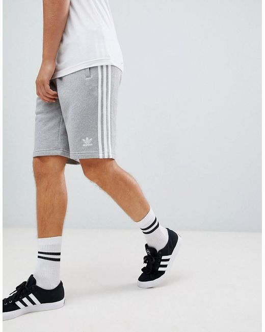 3-stripe Jersey Shorts In Grey Dh5803