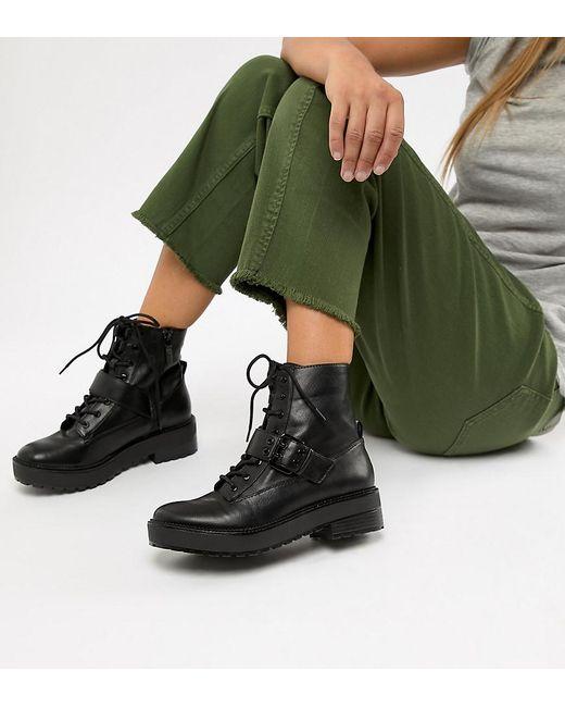 Bershka Blue Lace Up Boot