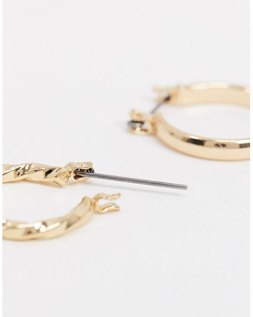 ASOS Metallic Pack Of 3 20mm Hoop Earrings