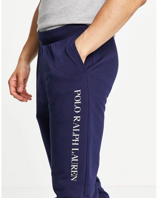 Темно-синие Джоггеры С Текстовым Логотипом Сбоку -темно-синий Polo Ralph Lauren для него, цвет: Blue