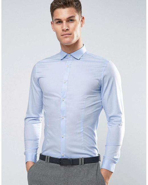 Jack & Jones | Blue Premium Skinny Smart Shirt for Men | Lyst