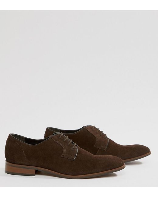 Dune - Lace Up Suede Shoes In Brown Suede for Men - Lyst