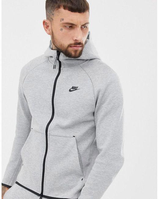 2b4f4276 Nike Fullzip Tech Fleece Hoodie In Gray in Gray for Men - Lyst