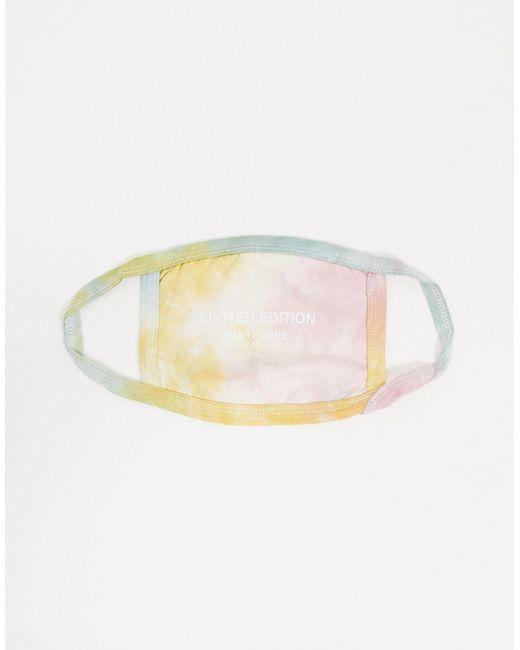 Masque en tissu effet tie-dye avec imprimé en édition limitée - Rose Sixth June en coloris Multicolor