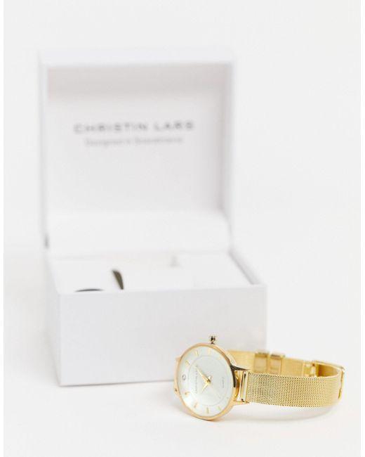 Золотистые Часы С Сетчатым Ремешком -золотой Christin Lars для него, цвет: Metallic