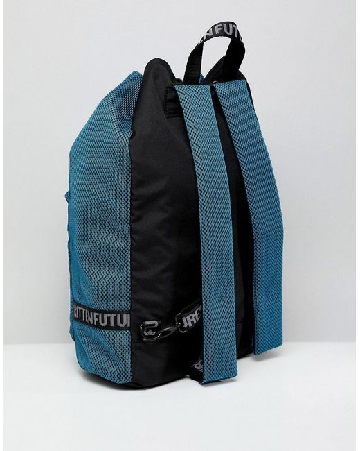 ... ASOS - Duffle Backpack In Blue Mesh With Internal Laptop Pouch for Men  - Lyst dddf8f2486a27