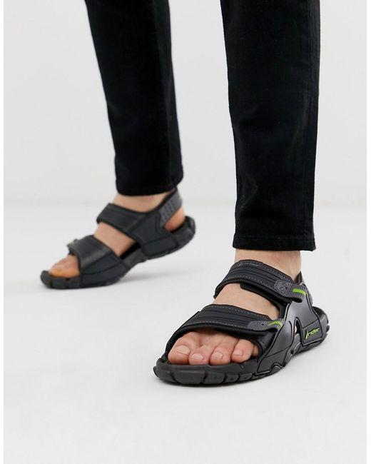 Rider – Tender – Sandale mit dicker Sohle in Black für Herren