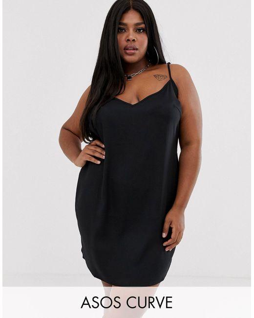 Vestido camisola corto ASOS de color Black