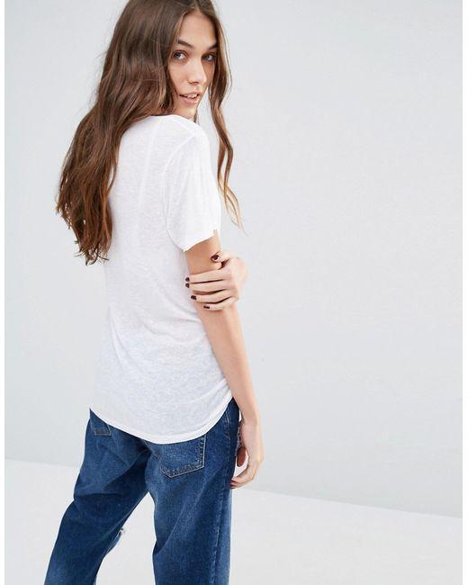 Vans White Classic Logo Boyfriend Fit T Shirt In White Lyst