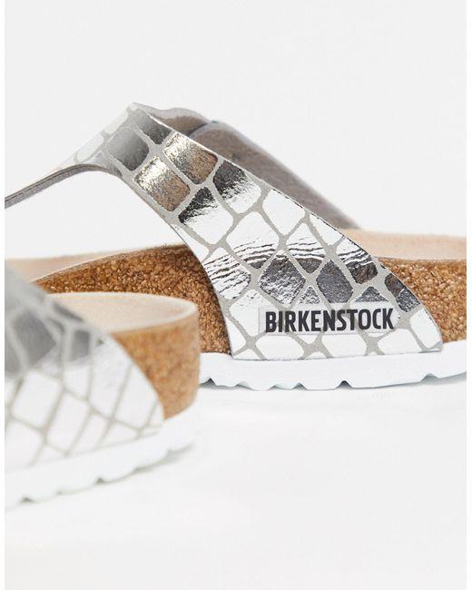 Серебристые Сандалии -серебряный Birkenstock, цвет: Metallic