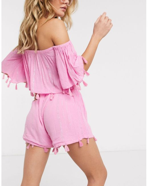 Кроп-топ От Комплекта -розовый South Beach, цвет: Pink