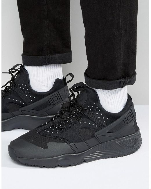Nike | Air Huarache Utility Trainers In Black 806807-004 for Men | Lyst