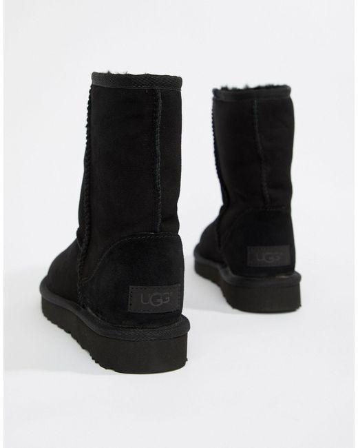 Ugg Black Classic Short II - Schwarze Stiefel
