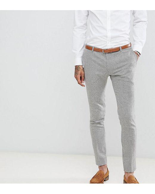 Heart & Dagger - Gray Pantalon de costume super ajust imprim pied-de-poule for Men - Lyst