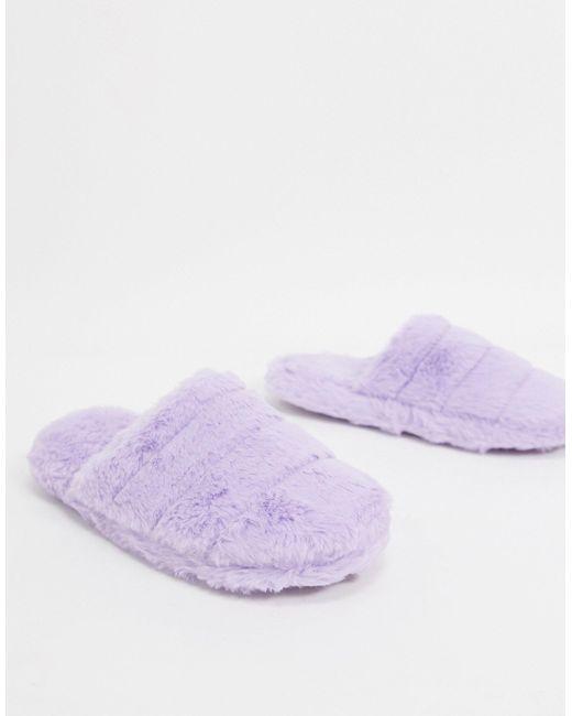 Лавандовые Стеганые Слиперы ASOS, цвет: Purple