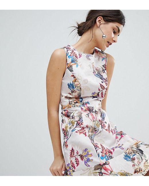 2c246b24c642 Oasis - Black Occasion Floral Jacquard Skater Dress - Lyst ...