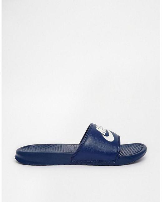 10545f1adf29 ... Benassi JDI - Mules - Bleu marine 343880-403 Nike pour homme en coloris  Blue
