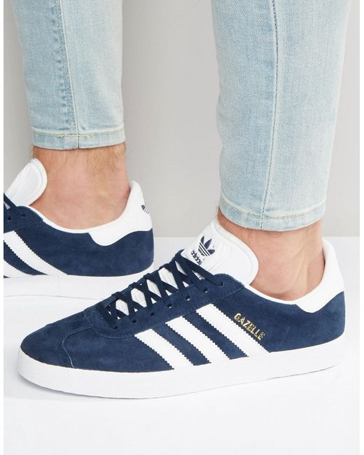 Adidas Originals | Multicolor Gazelle Trainers In Navy Bb5478 for Men | Lyst