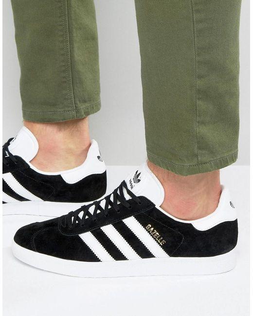Adidas Originals | Black Gazelle Sport Pack Leather Sneakers for Men | Lyst