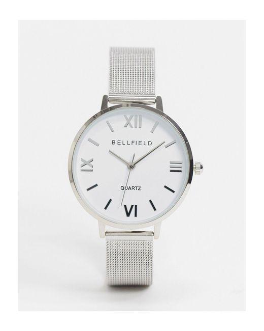 Bellfield Metallic Bracelet Mesh Watch