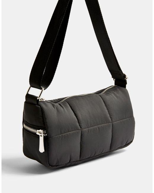 TOPSHOP Black Quilted Shoulder Bag