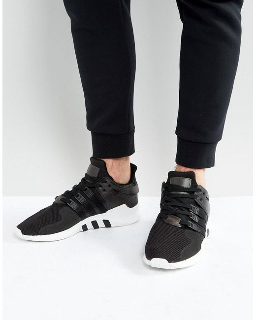 Lyst Adidas Originals Eqt Support Advance Sneakers In Black Bb1295