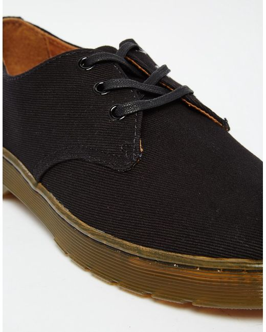 dr martens delray canvas shoes in green for black